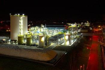 chlorine storage tanks