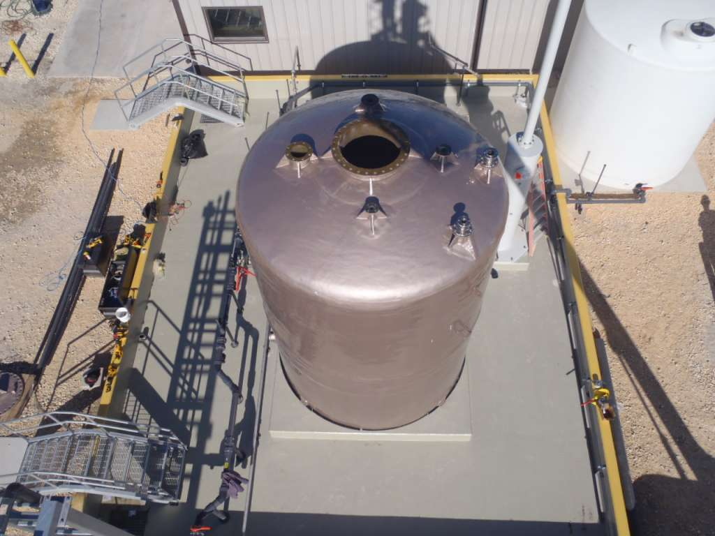 corrosive chemical storage tank