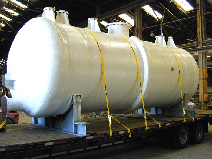 caustic soda storage tanks